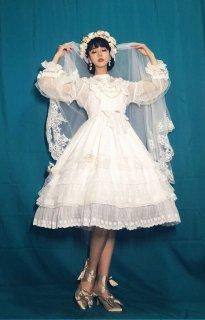 ロリータ Doris Night Lolita 花嫁ジャンスカ+コサージュベール セット販売 ブラウス含まず 袖なし ワンピースドレス loli1881