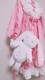 ロリータファッション ロリータ うさぎさん ぬいぐるみバッグ 斜めがけバッグ かばん アクセサリー 鈴 甘ロリ ピンク リボン ふわふわ いちご ロリータ hi0811