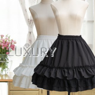 ロリータ ワイヤー付きミニ用ペチコート インナー ワイヤー ミニスカート用 ドレス