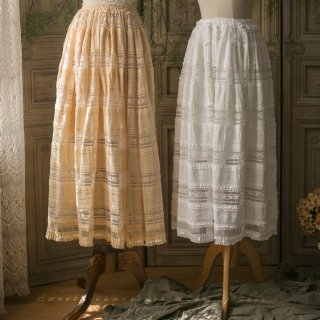 ロリータ Sweet Dreamer Vintage レース ペチコート ロングスカート スカート ボトムス インナー必要 重ね着 クラロリ クラシカルロリータ loli1922