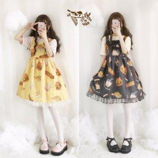 ロリータファッション American Foodジャンパースカート ジャンスカのみ JSK フリル 甘ロリ 0856