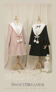 ロリータ Sweet Dreamer Vintage 英国風コート コートのみ アウター セーラーカラー 秋冬 ポンポン Aライン loli1935