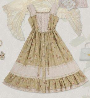 ロリータ Sweet Dreamer Vintage ジャンパースカート ジャンスカのみ ブラウス含まず 花柄 クラロリ 森系 loli1951