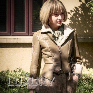 ロリータ Neo Ludwig MetalRose 飛行員ジャケット アウター 秋冬 ファー付き ジャケットのみ 男装 王子系 loli1973