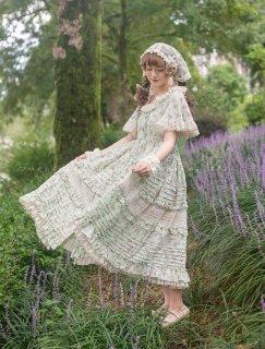 ロリータ Sweet Dreamer Vintage 花柄ワンピース 半袖 森系 クラシカル クラロリ 甘ロリ ドレス ロリータファッション ワンピース loli1999