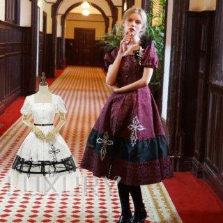 ロリータ Neo Ludwig パフスリーブドレス ドレスのみ 半袖 クラシカル ゴスロリ 姫ロリ 優雅 高級感 loli2018