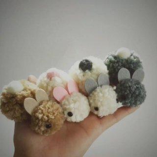 ロリータ ウサギさん ヘアアクセサリー ふわふわ もこもこ クリップ 小さめ キッズ 甘ロリ 新作 可愛い ホワイト ピンク ブラウン グレー loli095001