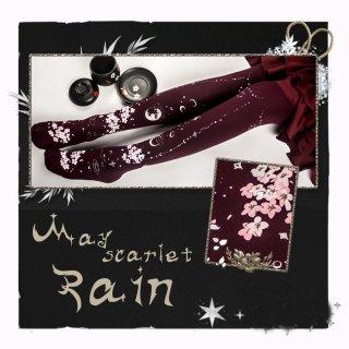 ロリータファッション 桜 デザイン 和柄 タイツ 120デニール 厚手 秋冬 月湖面 あったか 可愛い ポップ  夜桜 loli107009