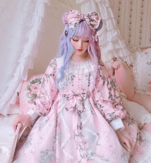 ロリータ リボンカチューシャ3色 DiamondHoney アクセサリ ゴスロリ 甘ロリ お揃い ロリータファッション