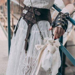 スチームパンク コルセット ベルト steampunk ブラウン 雑貨 小物 スタッズ 通年 コスプレ ゴスロリ ロリータファッション loli2117