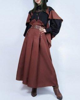 スチームパンク ケープ マント steampunk ブラウン 羽織り ライトアウター ゴスロリ ロリータファッション loli2140