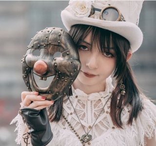 スチームパンク マスク お面 仮面 steampunk  イベント 通年 雑貨 小物 ピエロ ロリータファッション loli2175