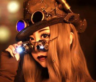 スチームパンク ゴーグル チェーン 眼鏡 メガネ パンク ゴスロリ  ロリータファッション loli2206