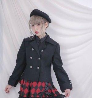 ロリータ ジャケット Dolly Delly ライトアウター 春物 無地 ブラック かっこいい 上品 発表会 お呼ばれ フォーマル  カジュアル キュート おでかけ ロリータ loli2261