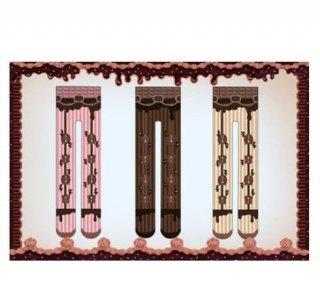 ロリータ チョコレート タイツ2色 ベージュ ブラウン カジュアル 秋冬 春物 ストライプ クマ くま 幾何学柄 ダイヤ柄 総柄 カラフル レトロ かわいい 人気 トレンド ゴスロリ loli2541