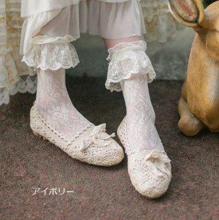 SweetDreamer ロリータ ソックス 靴下 かわいい アイボリー ブラック ホワイト クラシカル 甘ロリ レース フリル キュート レトロ おしゃれ 春夏 おでかけ デイリー loli2600