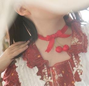 ロリータ Sweet Dreamer さくらんぼ チョーカー レッド リボン チェリー ファッション雑貨 アクセサリ 小物 フリーサイズ かわいい 甘ロリ カジュアル キュート 【【ポスト投函対応】】