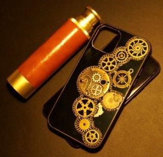 ロリータファッション steampunk iPhoneケース ゴスロリ スチームパンク iPhone11 11pro 11max レトロ 古風 アンティーク  【ポスト投函対応】