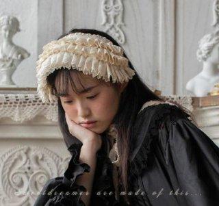 Sweet Dreamer ロリータファッション 甘ロリ 姫ロリ クラシカルロリータ クラロリ ヘッドドレス 無地 パステルカラー ジェラートカラー マカロンカラー フリル レース レトロ 古風