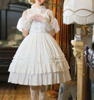 NyaNya ロリータ ジャンスカ ワンピース ドレス7色 カラバリ豊富 ミディアム フレア ひざ丈 フリル ふんわり ドール 大きいサイズ サイズ豊富 人気 パーティ ハロウィン 無地 リボン