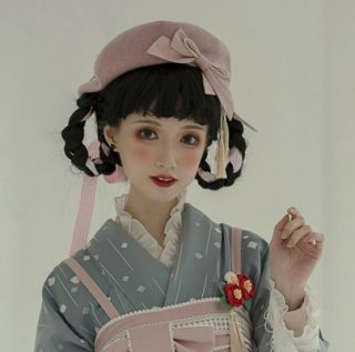 NyaNya ロリータ ベレー帽3色 ピンク ブルー アイボリー 秋冬 甘ロリ カジュアル ナチュラル ガーリー かわいい ヘッドドレス 帽子 ふんわり キュート フリーサイズ 無地 人気