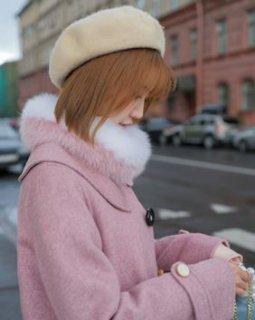 セミロリータ マフラー3色 スヌード フォックスファー ふんわり かわいい 人気 あったか バイカラー フリーサイズ キュート トレンド 秋冬 ファッション雑貨 小物 もこもこ レディースファッション