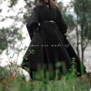 ロリータ ロングコート 2色 SweetDreamer 和ロリ 和服 羽織り オーバーコート 着物 おしゃれ ブラック ホワイト 秋冬 アウター あったか おしゃれ モード モダン ゴスロリ