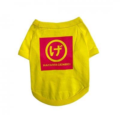 犬服ドッグウェア まるげロゴ(黄色地×ピンクプリント)
