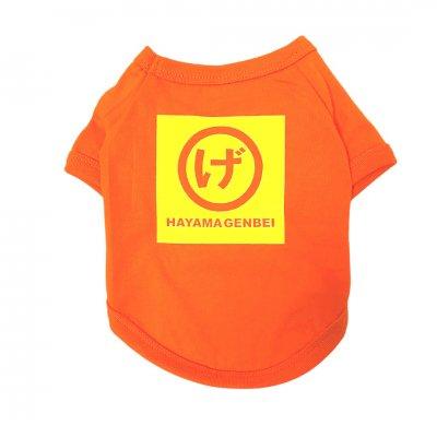 犬服ドッグウェア まるげロゴ(オレンジ地×黄色プリント)