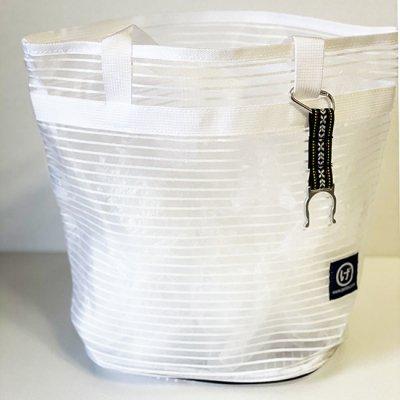 メッシュプールバッグ ワントーンホワイト
