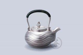 田中照一 纯银 汤沸4寸 波纹