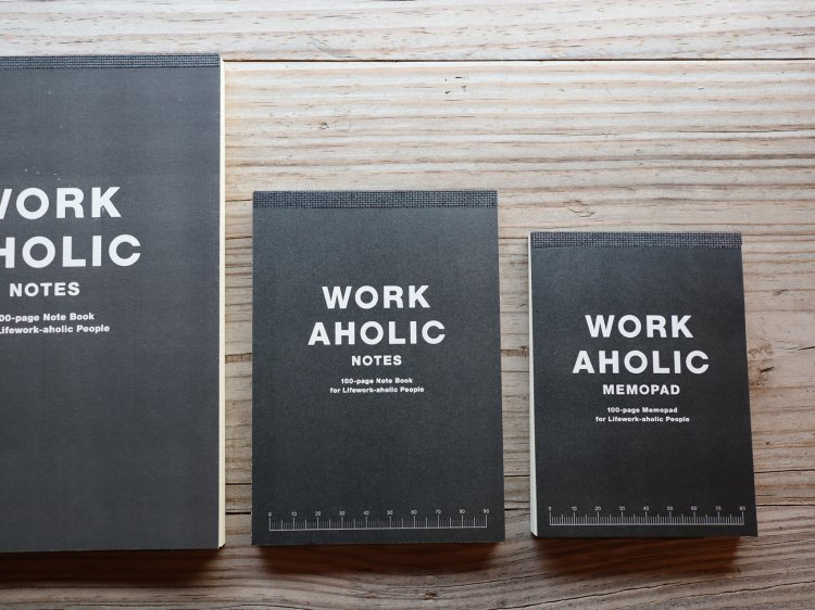 WORKAHOLIC NOTES -BLACK-