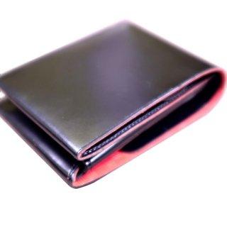 二つ折り財布 KAWAORIGAMI ブラック&レッドモデル チェンジウォレット