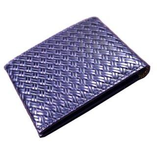 二つ折り財布 アジロ編みグレイン チェンジウォレット