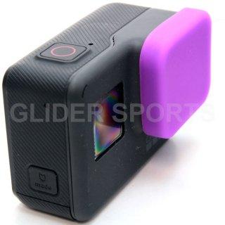 【送料無料】GoPro HERO7Black/HERO6/HERO5 アクセサリー シリコンレンズカバー 紫  GLD7890go210