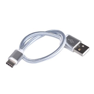 【送料無料】HERO7/6/5/HERO5Session用 USB-Cケーブル シルバー GLD9603go212 充電 接続 type-C Fusion Osmo Pocket&Action