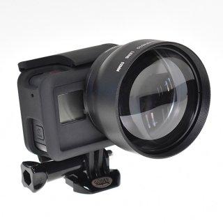 GoPro(ゴープロ)用 (HERO7Black/HERO6/HERO5対応) 2倍ズームレンズ ×2コンバーター  望遠レンズ 52mm GLD9795MJ27-52