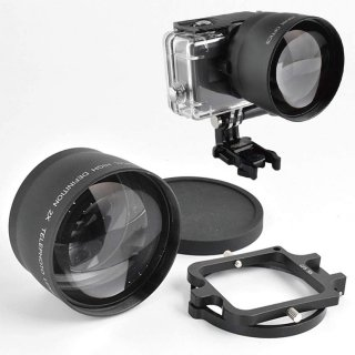【送料無料】GoPro HERO6/HERO5用 2倍ズームレンズ ×2コンバーター 望遠レンズ 58mm 防水ハウジング(GLD7685GO200)専用 GLD9801mj28-58