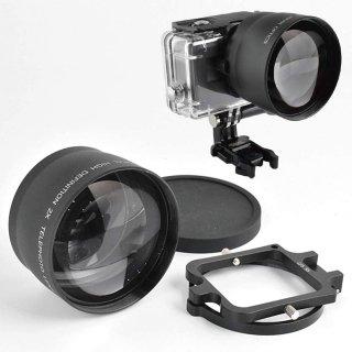 2倍ズームレンズ ×2コンバーター 望遠レンズ 58mm 当社HERO6/5用防水ハウジング全対応 (HERO7Black/HERO6/HERO5対応) GLD9801MJ28-58