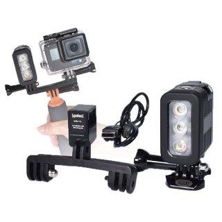 【送料無料】GoPro用 3気圧防水ライト ダイビングライト LEDライト 300LM 水中ライト 防水検査済 照明撮影 GLD9931mj41