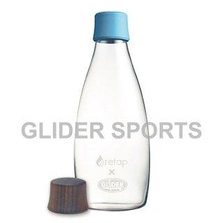 【送料無料】リタップ retap05 耐熱ウォーターボトル retap×glider with Lid(キャップ) 水色+木フタ (500ml) GLD8217retap05-lb