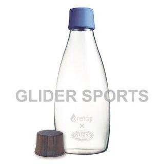 【送料無料】リタップ retap05 耐熱ウォーターボトル retap×glider with Lid(キャップ) 濃青+木フタ (500ml) GLD8224retap05-db