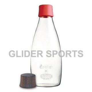 【送料無料】リタップ retap05 耐熱ウォーターボトル retap×glider with Lid(キャップ) 赤+木フタ (500ml) GLD8200retap05-rd