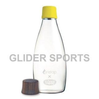 【送料無料】リタップ retap05 耐熱ウォーターボトル retap×glider with Lid(キャップ) 黄+木フタ (500ml) GLD8194retap05-ye