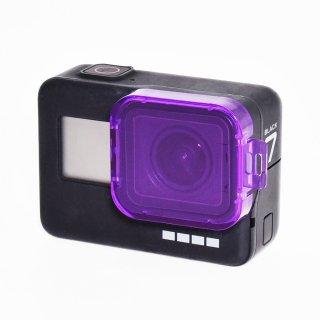 HERO7black/HERO6/HERO5対応 レンズフィルター 紫 ダイビングフィルター 海中 水中 レンズカバー GLD3570MJ80