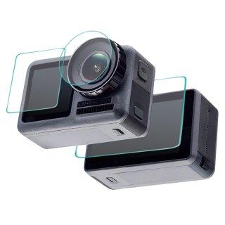 DJI Osmo Action用 超硬度保護フィルム セット 液晶画面(スクリーン前面と後面)&レンズ保護フィルム ガラスフィルム 液晶保護 GLD3662MJ88