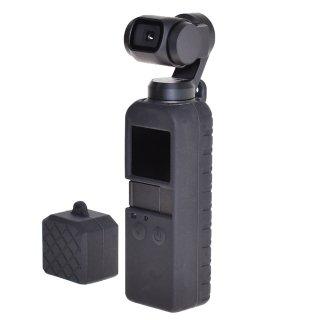 【送料無料】DJI Osmo Pocket用シリコンケース シリコンカバーケースセット 衝撃吸収 滑り止め 汚れ防止 傷防止 GLD3648MJ86