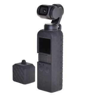 DJI Osmo Pocket用 シリコンケース シリコン カバーケースセット 衝撃吸収 滑り止め 汚れ防止 傷防止 GLD3648MJ86