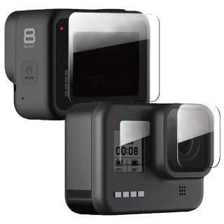 GoPro(ゴープロ)用 HERO8Black対応 アクセサリー 保護フィルム ハード 液晶保護 フィルム ガラス 液晶フィルム GLD3891MJ08