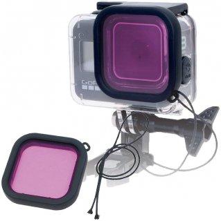 HERO8Black 対応 水中用フィルター 紫 レンズフィルター 当社製防水ハウジング対応 防水ケース用 ダイビングフィルター 海中 GLD3921MJ10